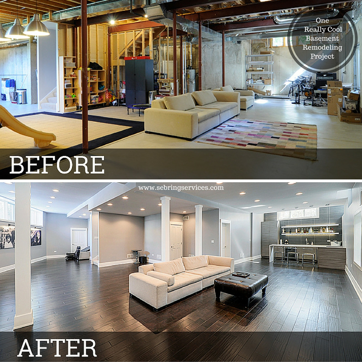 10 Inspirational Basement Remodels! Before And After