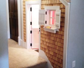 play house under staircase