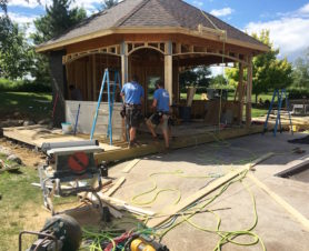 building outdoor kitchen - treasured spaces team