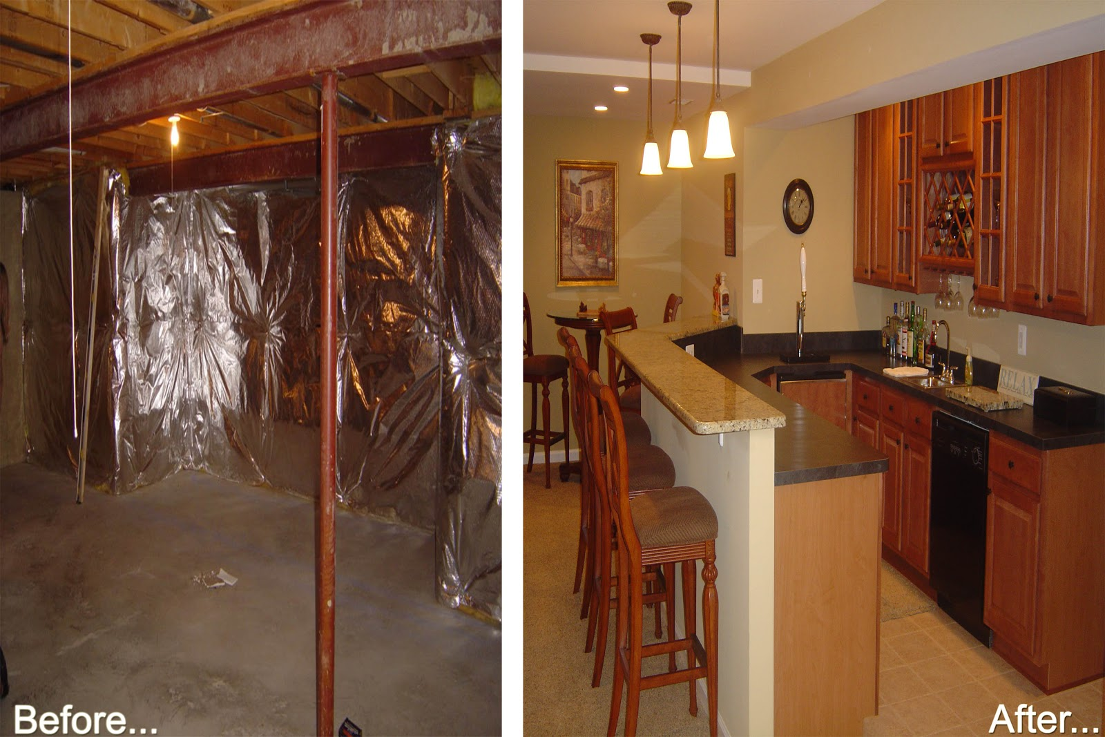 Before-and -After- Basement