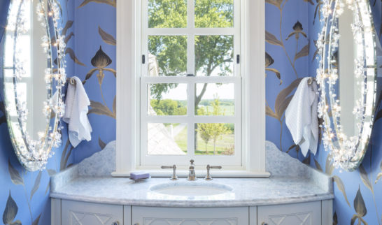 custom home powder room