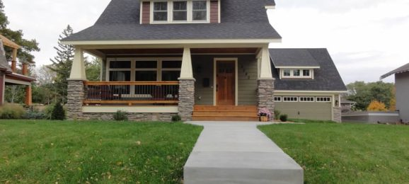 front porch exterior remodel