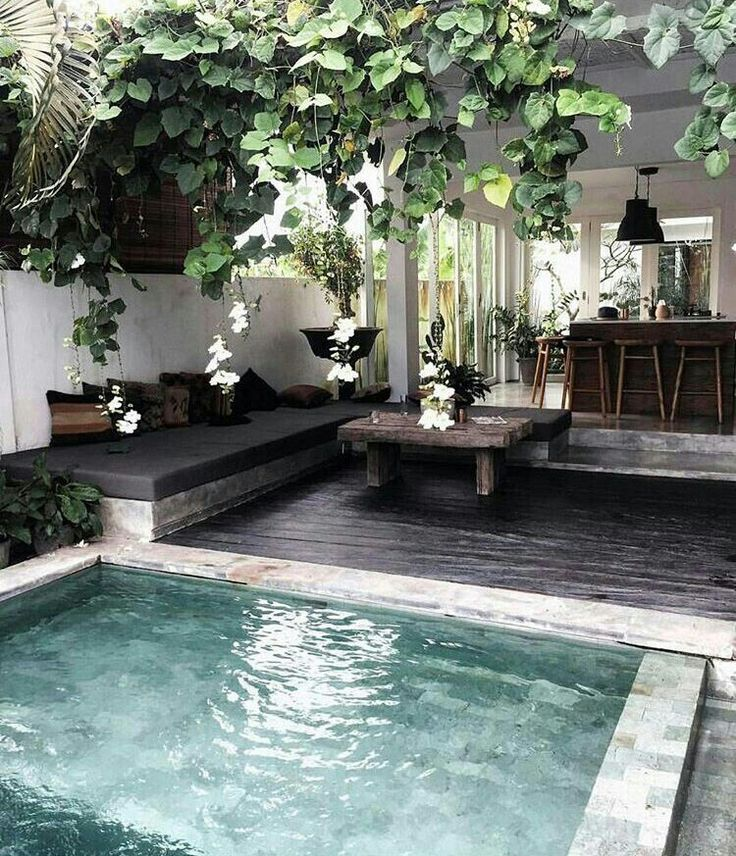 outdoor living space ideas cool pool