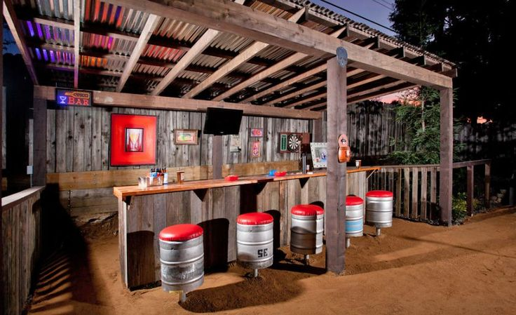 outdoor living space ideas outdoor bar
