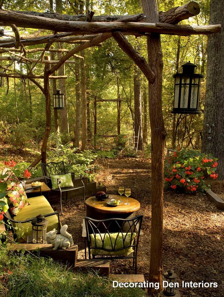 outdoor living space ideas garden trail