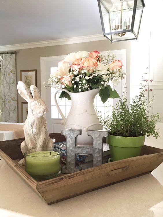 spring kitchen table decor