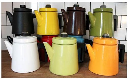 mid century modern kitchen design tea cups