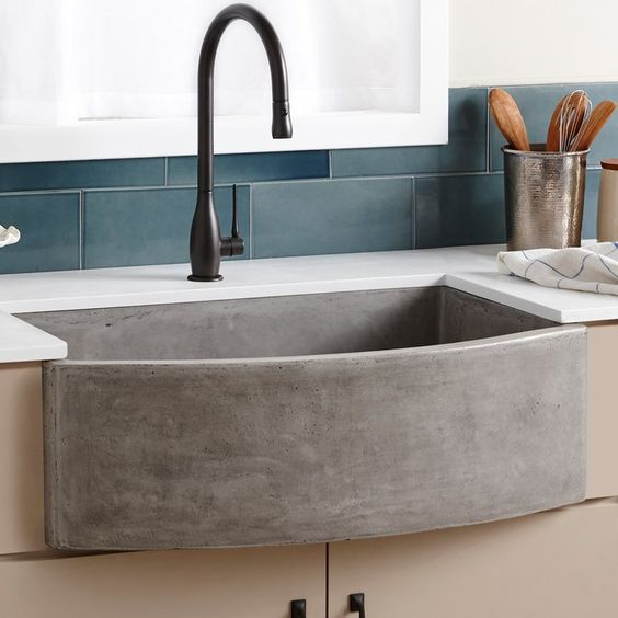 cement kitchen sink