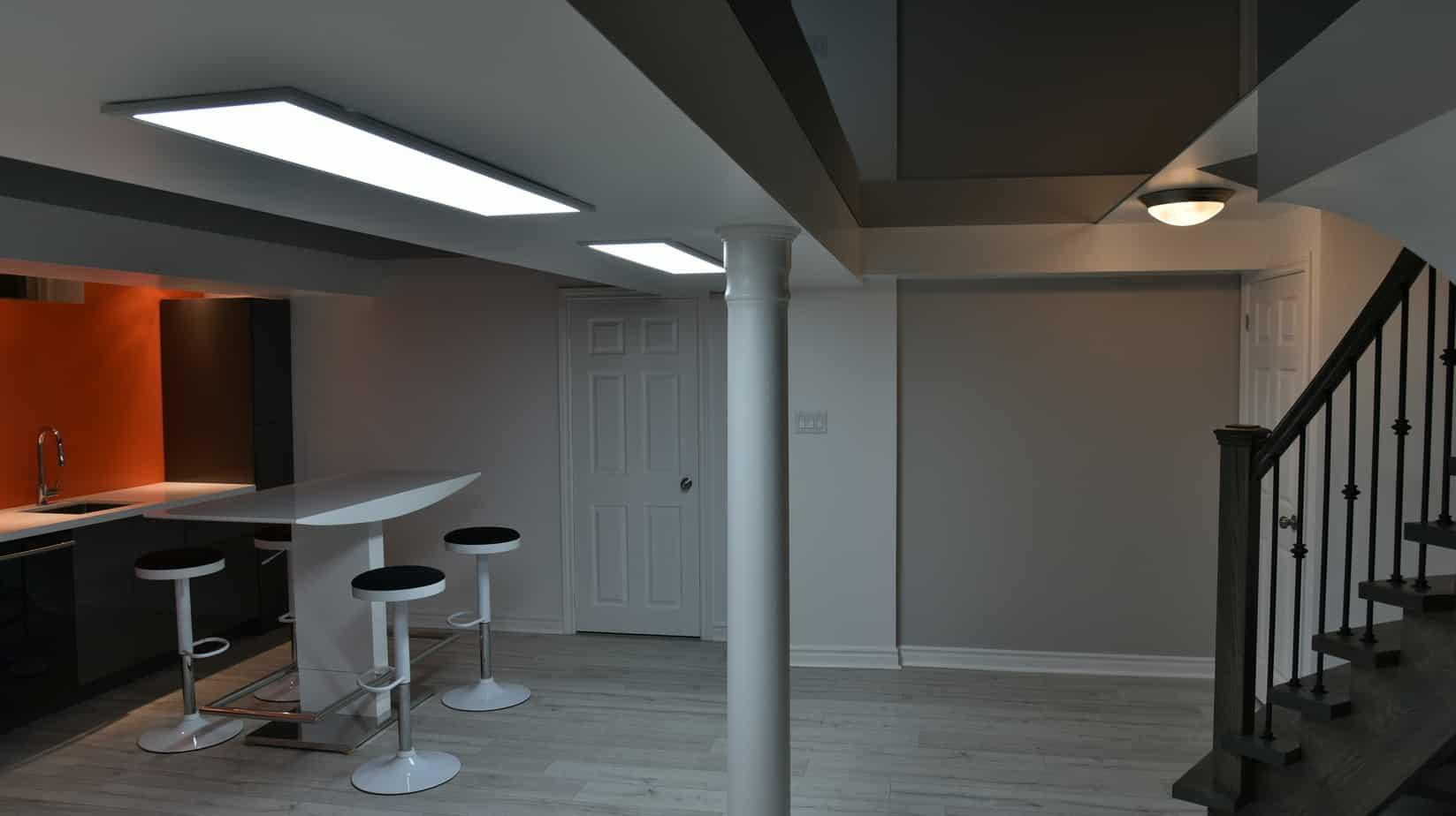 finished basement kitchen or bar