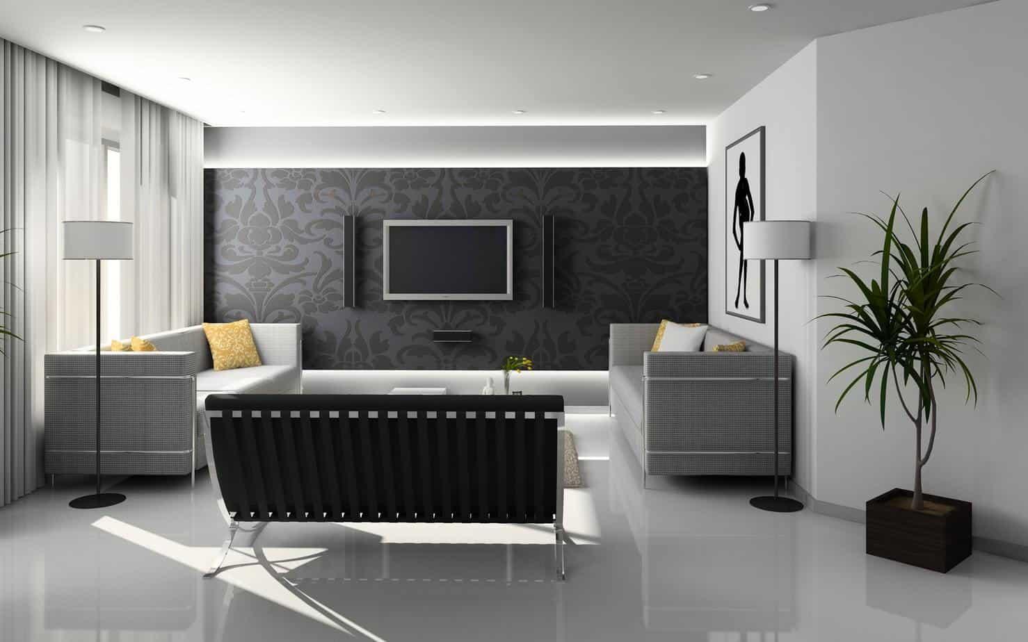 entertainment center, living area
