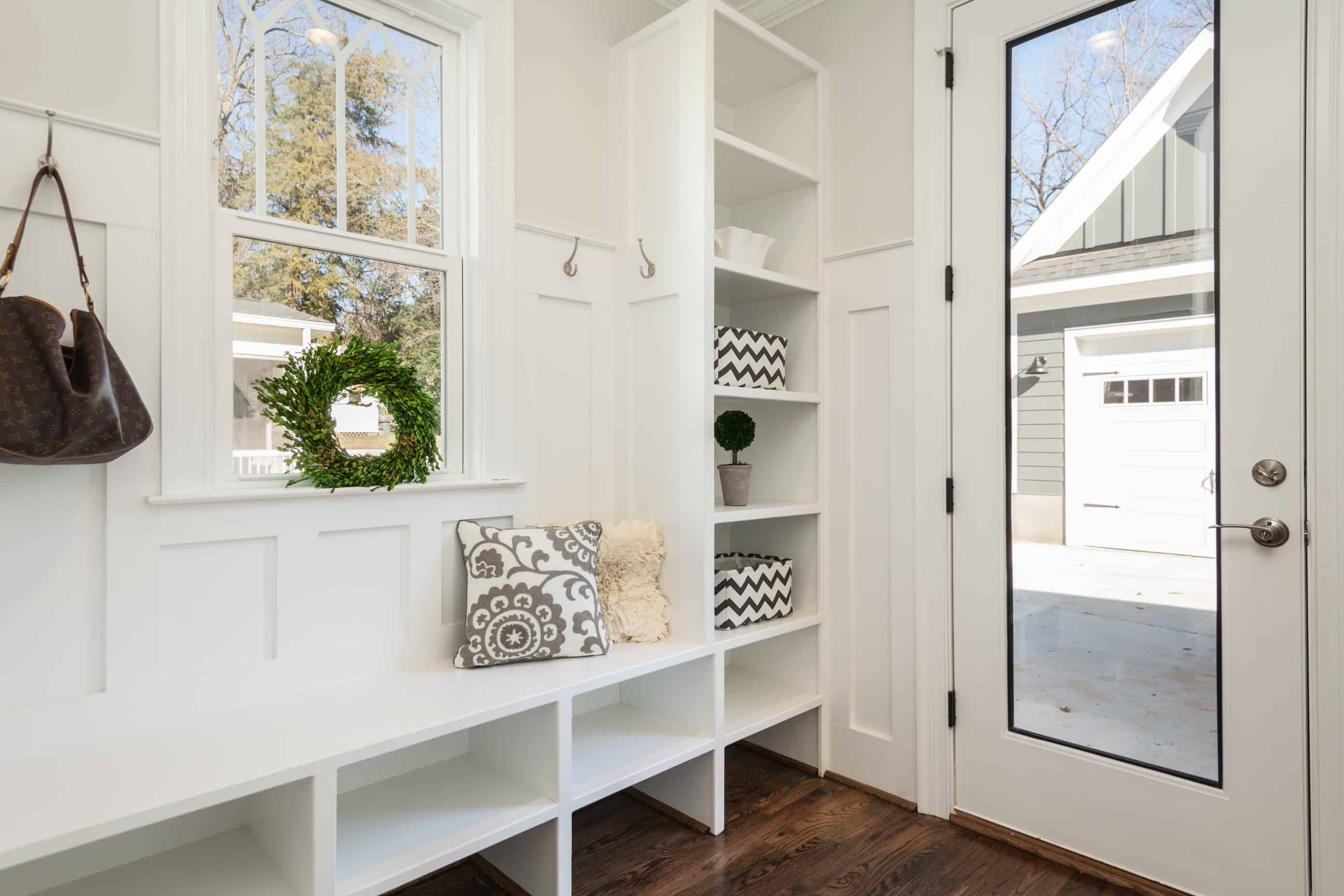 Home idea, mudroom or entryway.